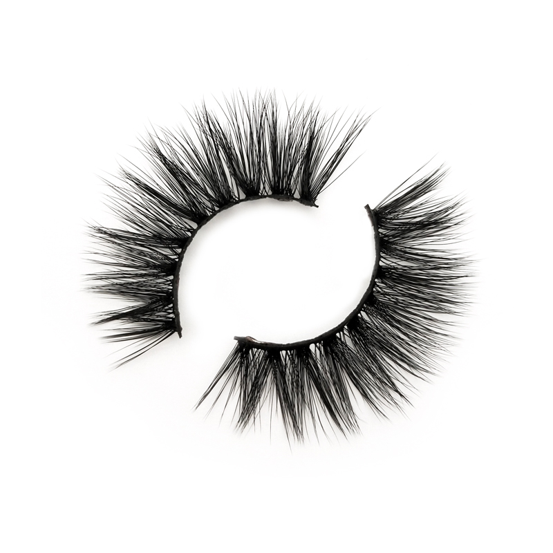 Luxury 3d silk faux mink eyelashes natural looking 12-16mm  handmade silk lashes JN15
