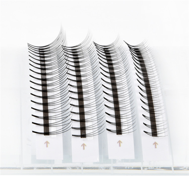 Short Stem Premade fans 3D 4D 5D Volume Eyelash Extensions Factory Supply FM032