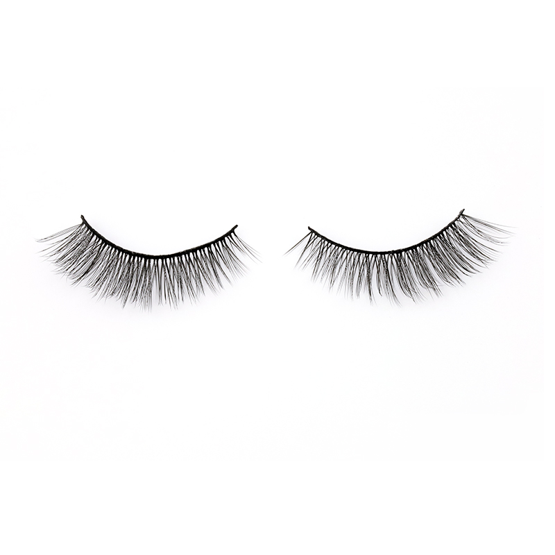 Wholesale Cruelty Free Individual Natural 3D Synthetic Silk Eyelashes A6 ZX021