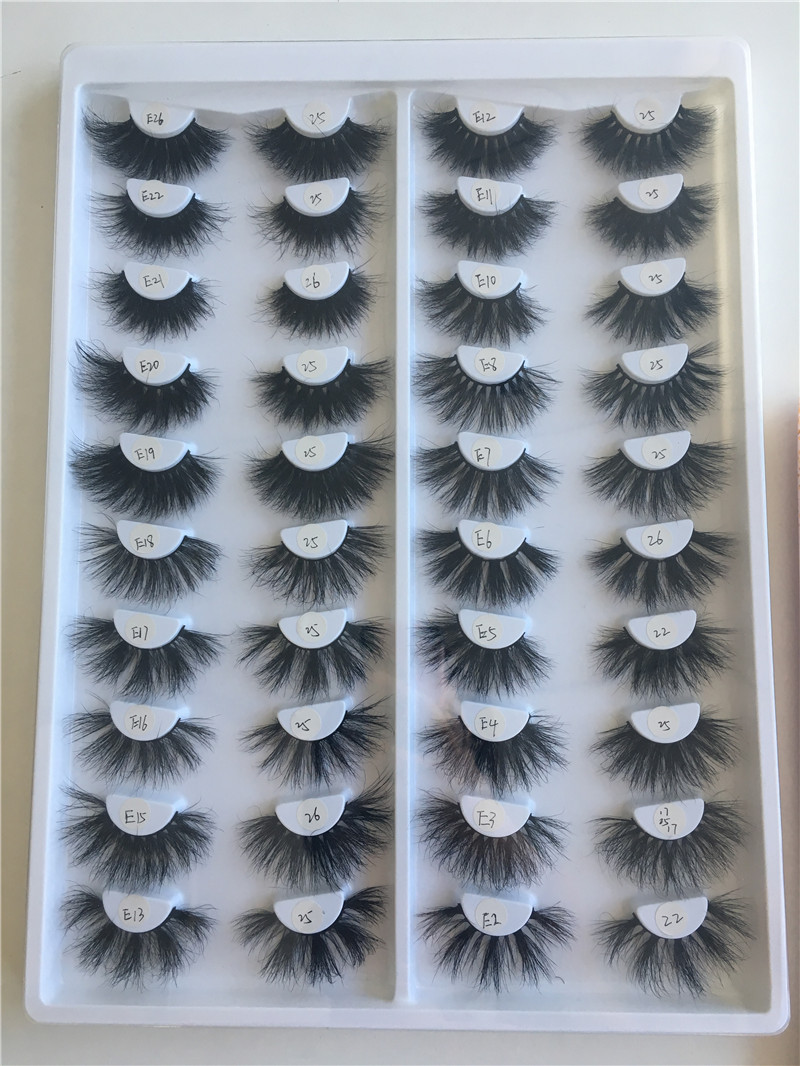 High Quality 25mm Dramatic Mink Eyelashes Vendors Wholesale California MS19